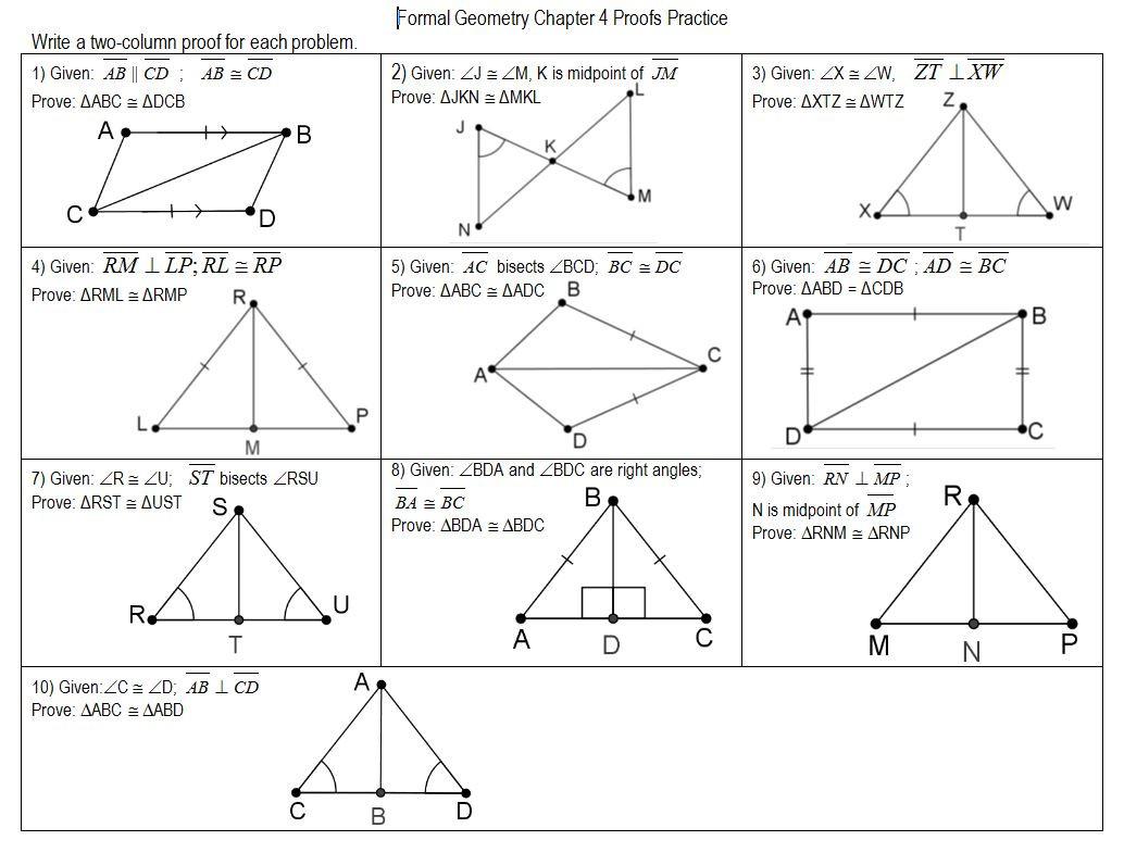 30 Triangle Congruence Proof Worksheet