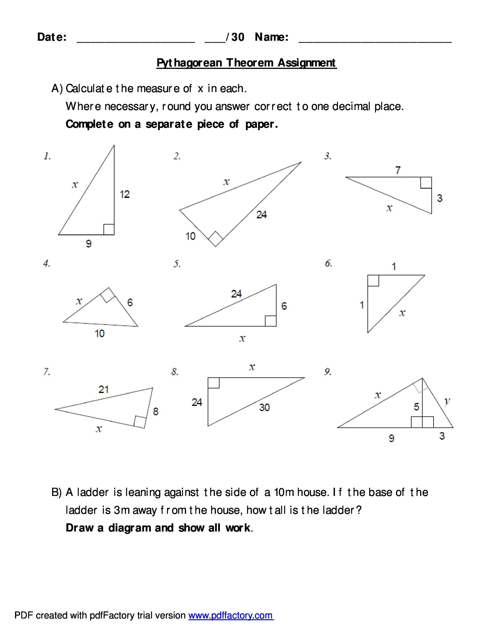30 Triangle Congruence Worksheet