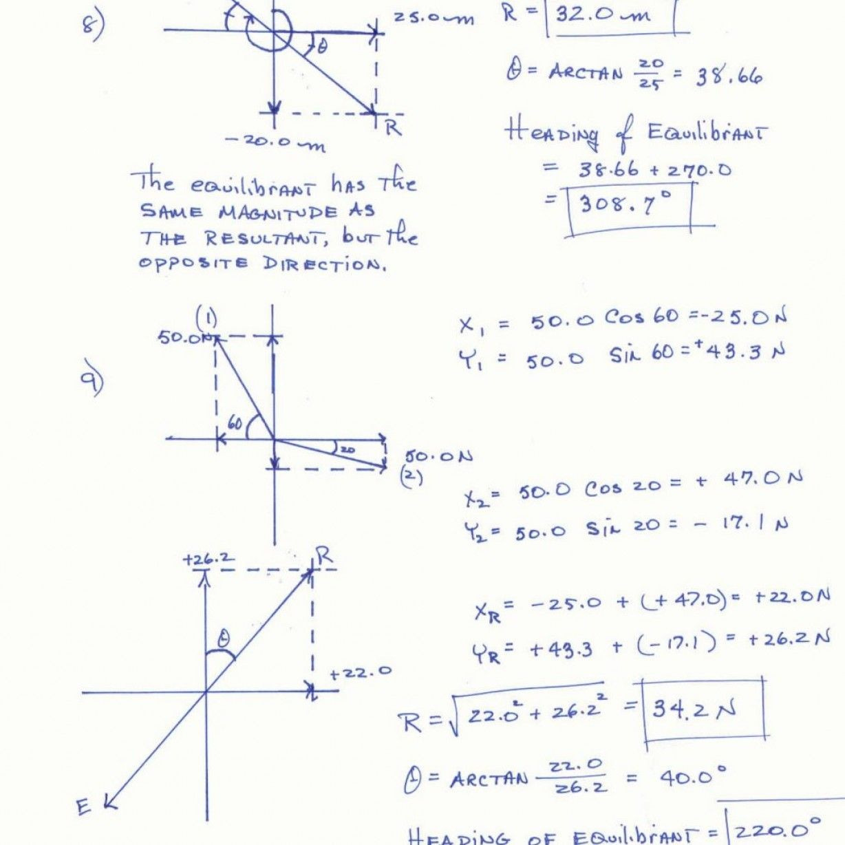 30 Vector Worksheet Physics Answers