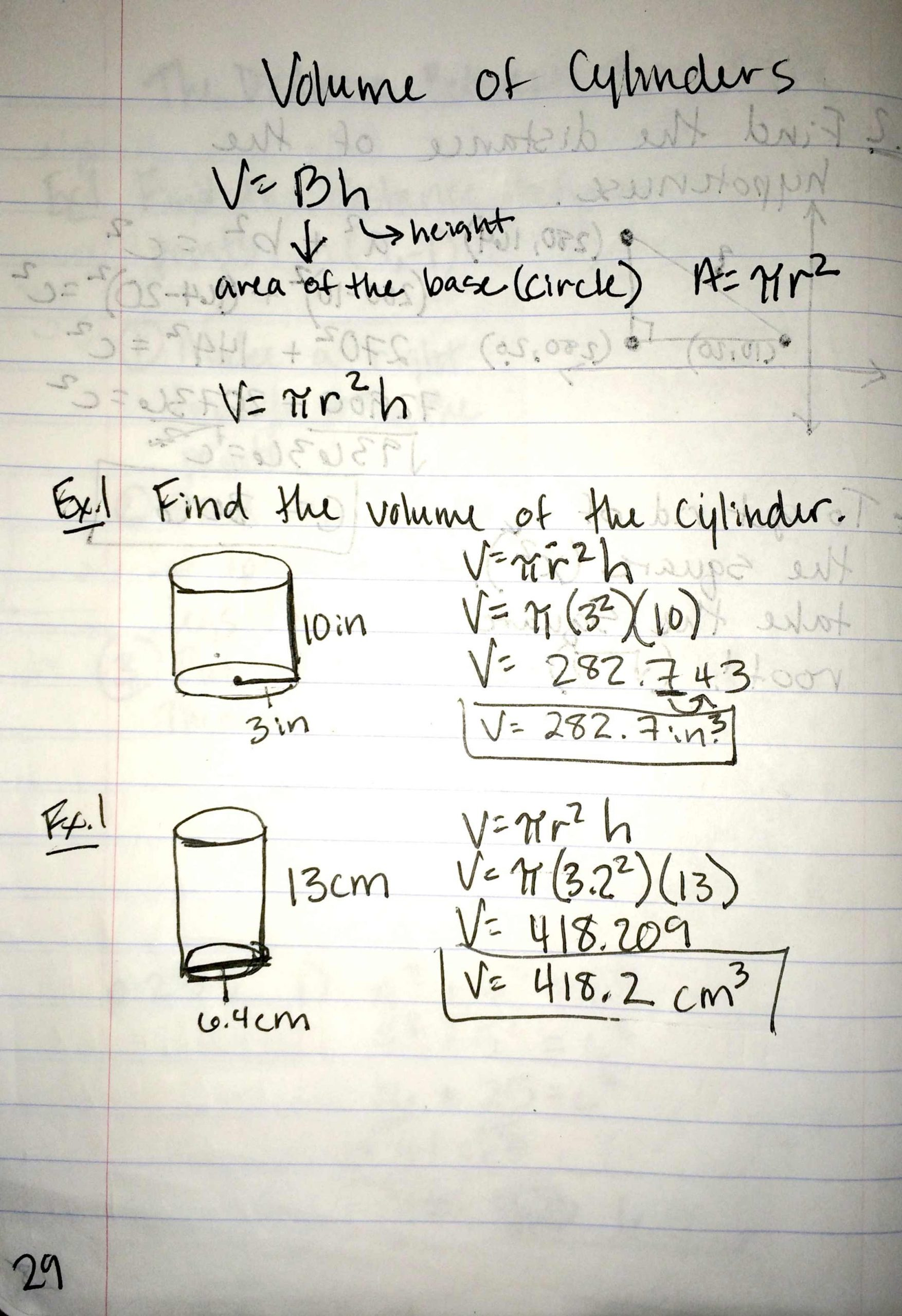 30 Volume Of Cylinders Worksheet