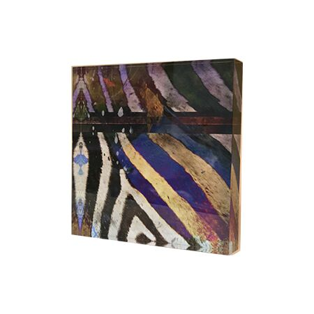 Sebra Stripe - Acrylic Art Block