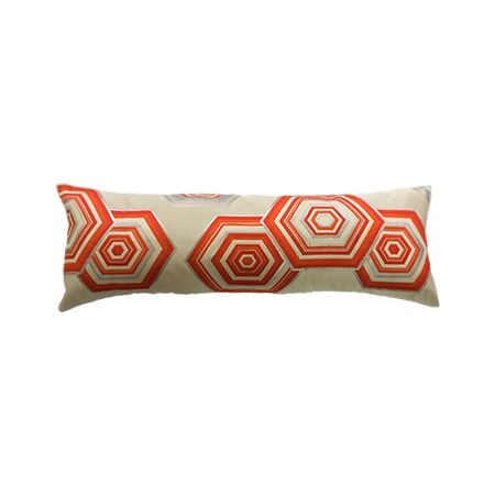Geometric Vintage Orange Obi Pillow