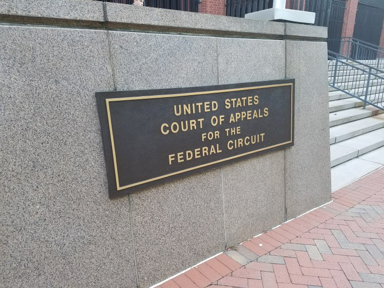 United States Court of Appeals for the Federal Circuit west entrance plaque