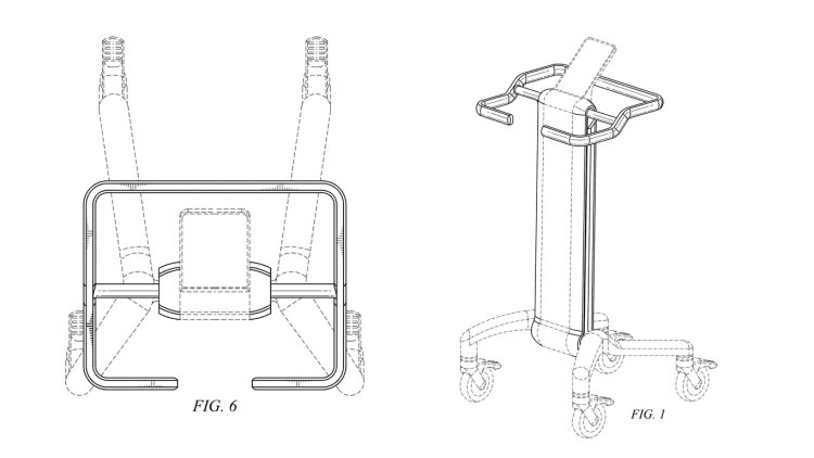 Design Patent D866110 for a pedestal stand