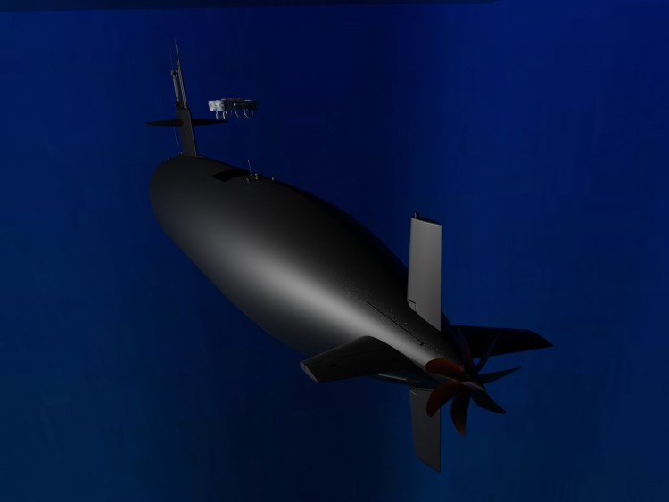 Submersible Hydrone exiting submarine. Credit: Hyalta Aeronautics LLC