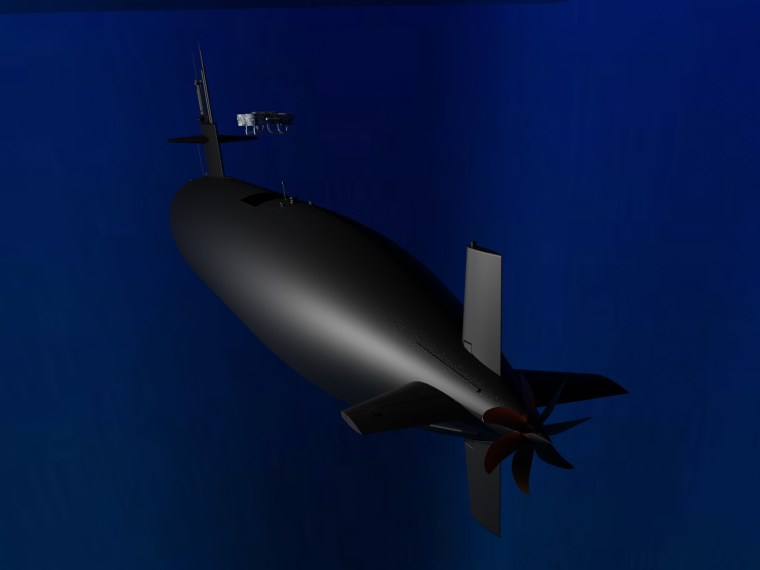 Submersible Hydrone exiting submarine. Credit: Hyalta Aeronautics LLC