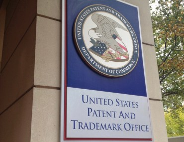 United States Patent and Trademark Office sign.