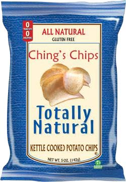 Example branding on page of chips - SUPER CHIPS