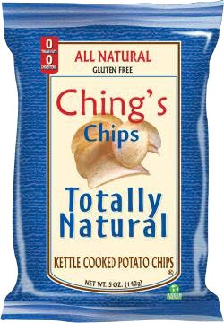Example branding on page of chips - SUPER CHIPS with different fonts