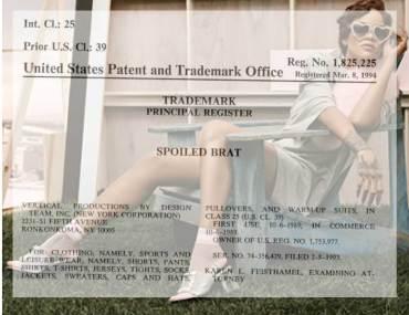 Rihanna sued for trademark infringement on SPOILED BRAT sock line.