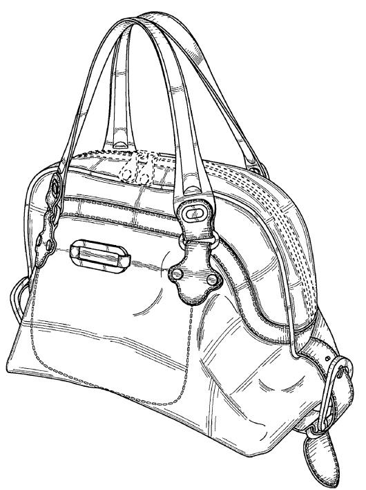 Jimmy Choo design patent handbag
