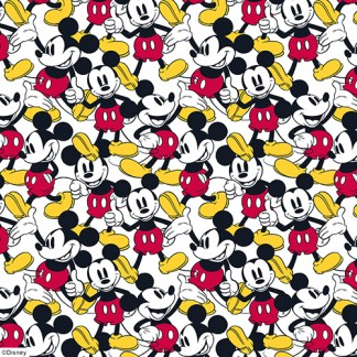 close up of Mickey Mouse roller blind fabric