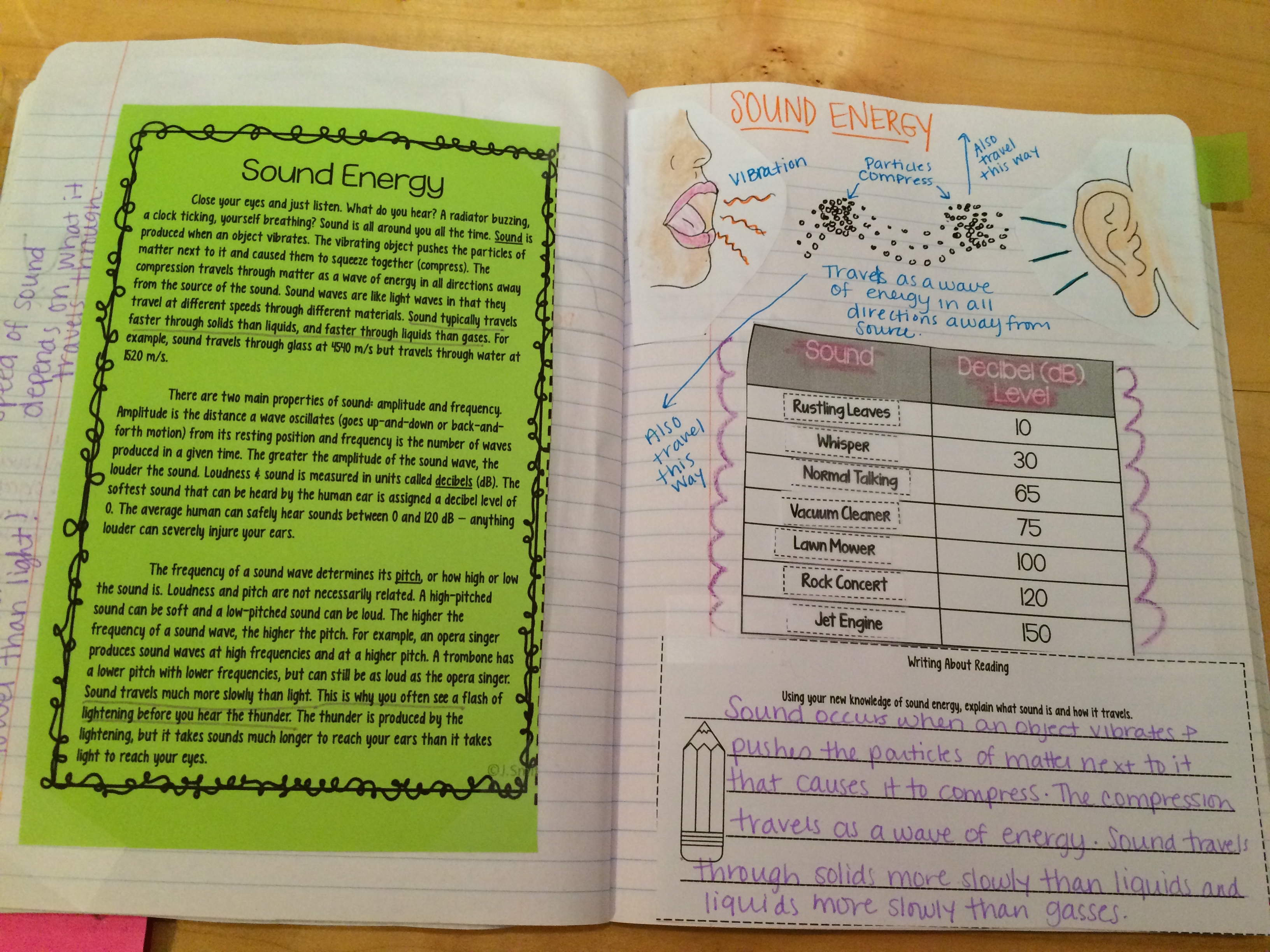 Reading Comprehension Science Interactive Notebooks