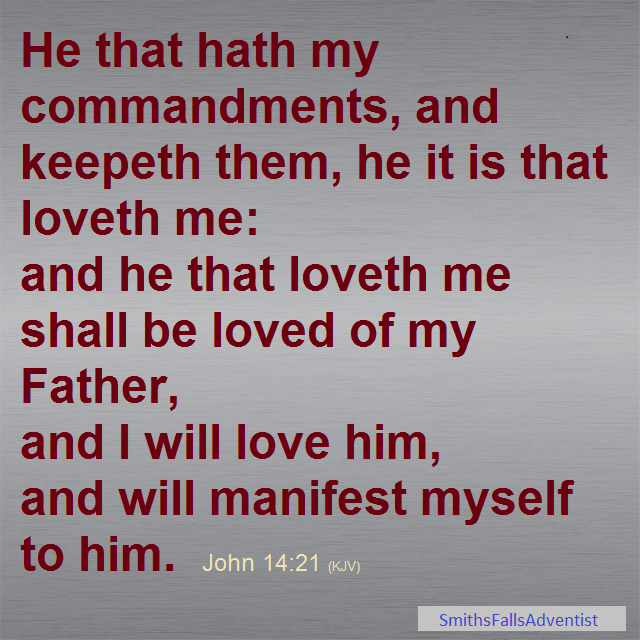 John 14 verse 21 on background image