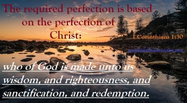 Bible text, 1 Corinthians 1 verse 30, lake