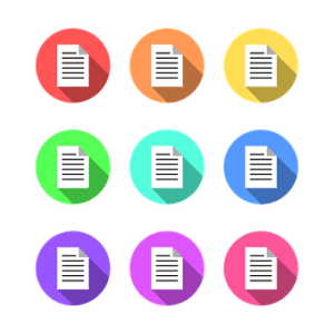 Illustration-text-articles categories-list-icons