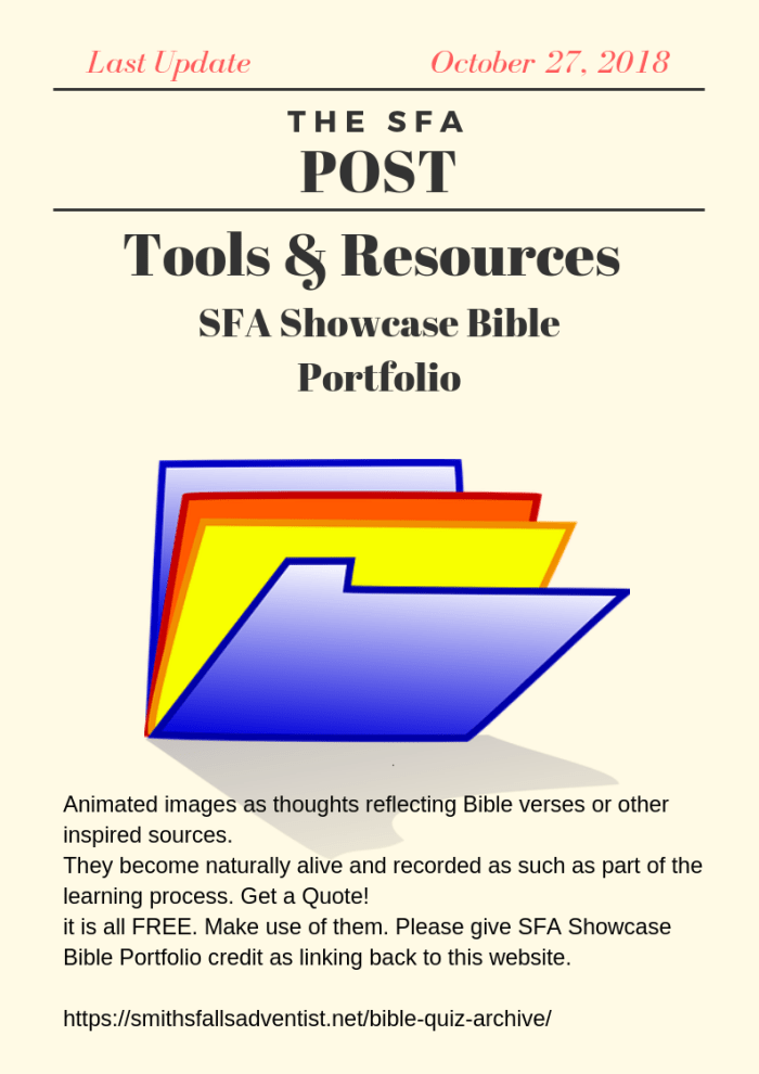 Illustration-The SFA Post - Tools & Resources - Bible Portfolio