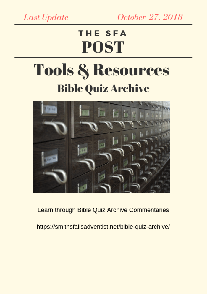 Illustration-The SFA Post - Tools & Resources - Bible Quiz Archive