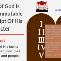 Illustration-Title-The Law Of God Is Holy And Immutable - A Transcript Of His Character-text-logo