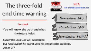 Illustration-The three-fold end time warning-text-logo