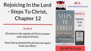 Illustration-Title-Rejoicing In the Lord - Steps To Christ, Chapter 12-text-logo