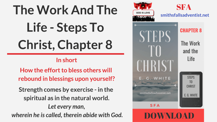 Illustration-Title-The Work And The Life - Steps To Christ, Chapter 8