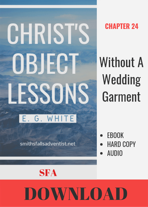 Illustration-Ebook Christ's Object Lessons - Without a Wedding Garment, Chapter 24-text-logo