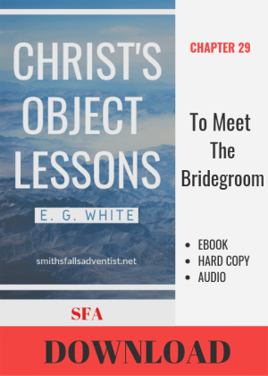 Illustration-Ebook Christ's Object Lessons - To Meet the Bridegroom, Chapter 29-text-logo