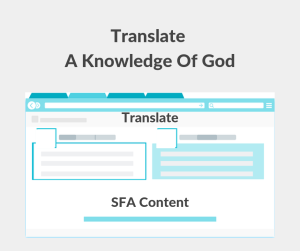Illustration-Translate A Knowledge Of God