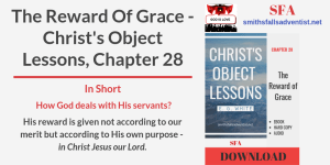 Illustration-Title-The Reward of Grace. Christ's Object Lessons-text-logo