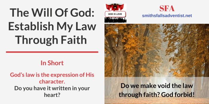 Illustration-Establish My Law Through Faith-landscape-text-logo-Bible verse