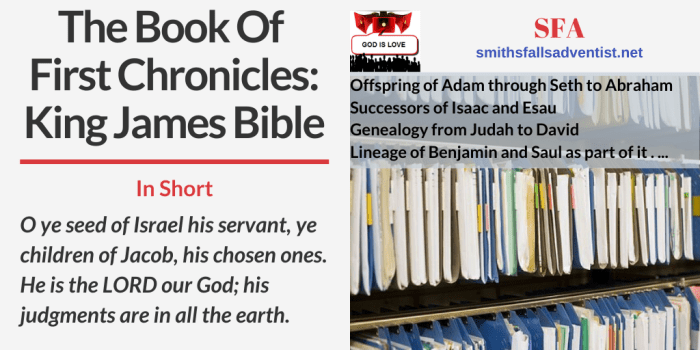 Illustration-Title - The Book Of First Chronicles-archive-filing-text-Bible verse
