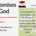 Illustration - Title - The Promises Of God - tree background - text - Bible verse