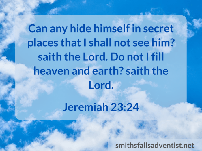 Illustration - sky - clouds - text - Do not I fill heaven - Jeremiah 23 verse 24