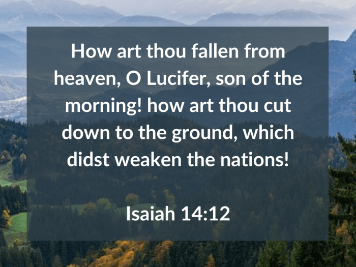 Illustration-background-mountain top under under cloudy sky-title-Fallen from heaven in Isaiah 14 verse 12-text-Bible verse