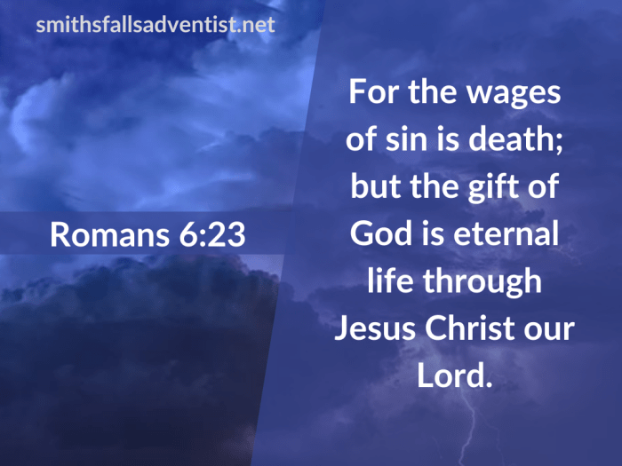 Illustration-background-cloudy and dark sky-title-Gift of God is eternal life in Romans 6 verse 23-text-Bible verse
