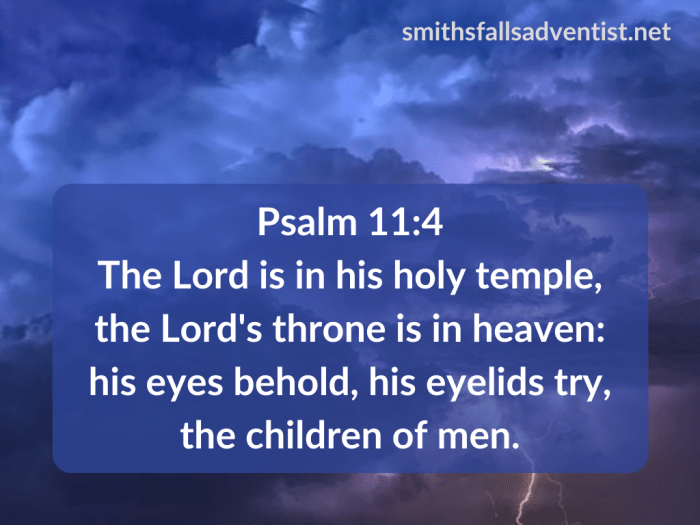 Illustration-background-dark cloudy sky-title-Holy temple in Psalm 11 verse 4-text-Bible verse