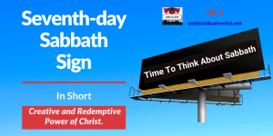 Illustration-background-billboard sign-title-Title - Seventh-day Sabbath Sign-text