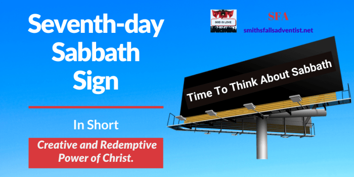 Illustration-background-billboard sign-title-Title - Seventh-day Sabbath Sign-text