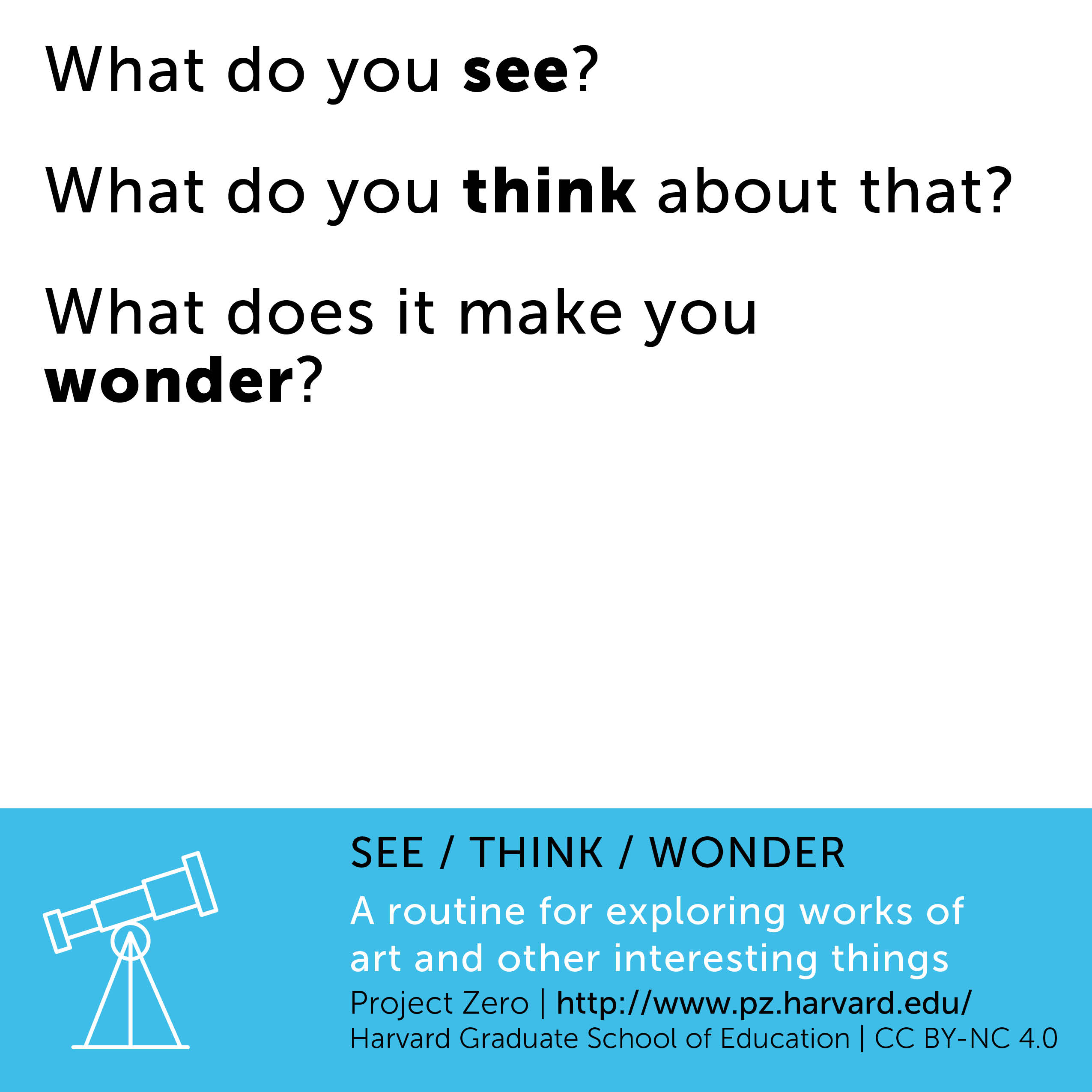 Resources See Think Wonder Project Zero Visible
