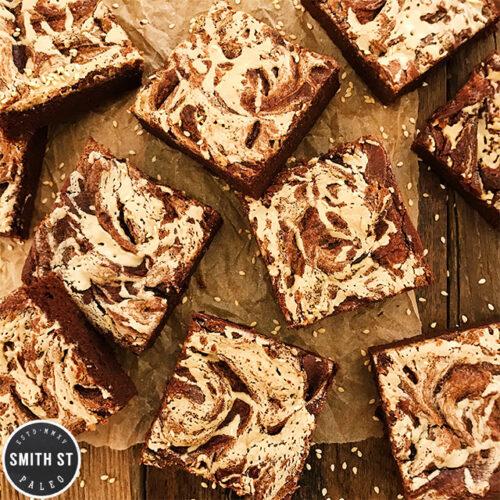 Sweet Potato and Tahina Brownies