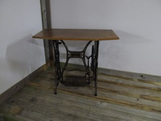 Singer sewing machine base with oak top, perfect hall table £135