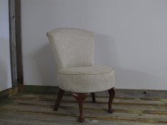 Small bedroom chair the upholstery cost £85 - for sale £125