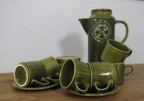 Coffee set Inc. sugar bowl, made in England by Agincourt, Jon Anton ironstone £20