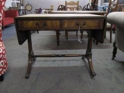 Mahogany sofa side table £135