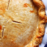 all butter, really flaky pie dough