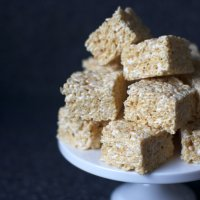 salted brown butter crispy treats