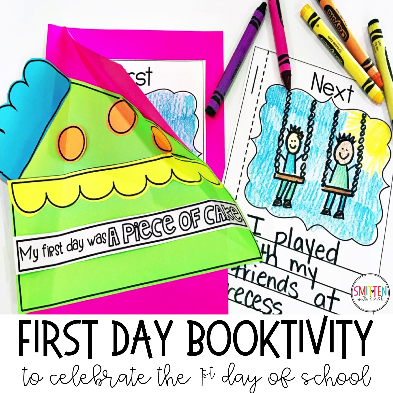 First Day Of School Activity Kindergarten First Grade Second Grade Third Grade Back To School