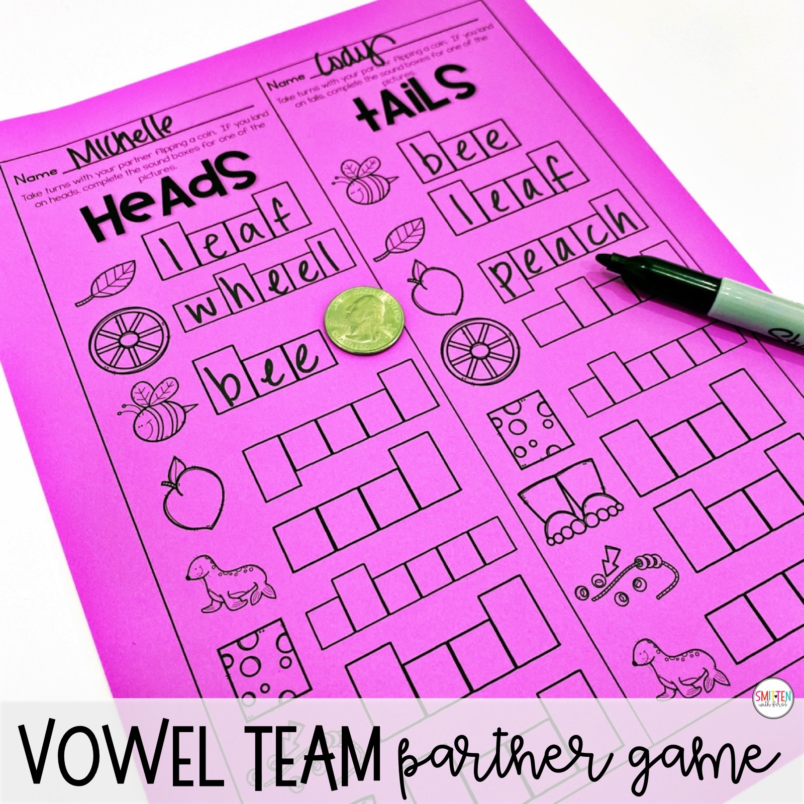 Long E Vowel Teams Vowel Pairs Ee Ea Phonics Activities