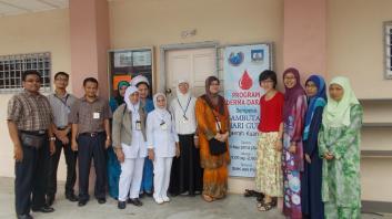 Para AJK dan Petugas HTAA Program Derma Darah
